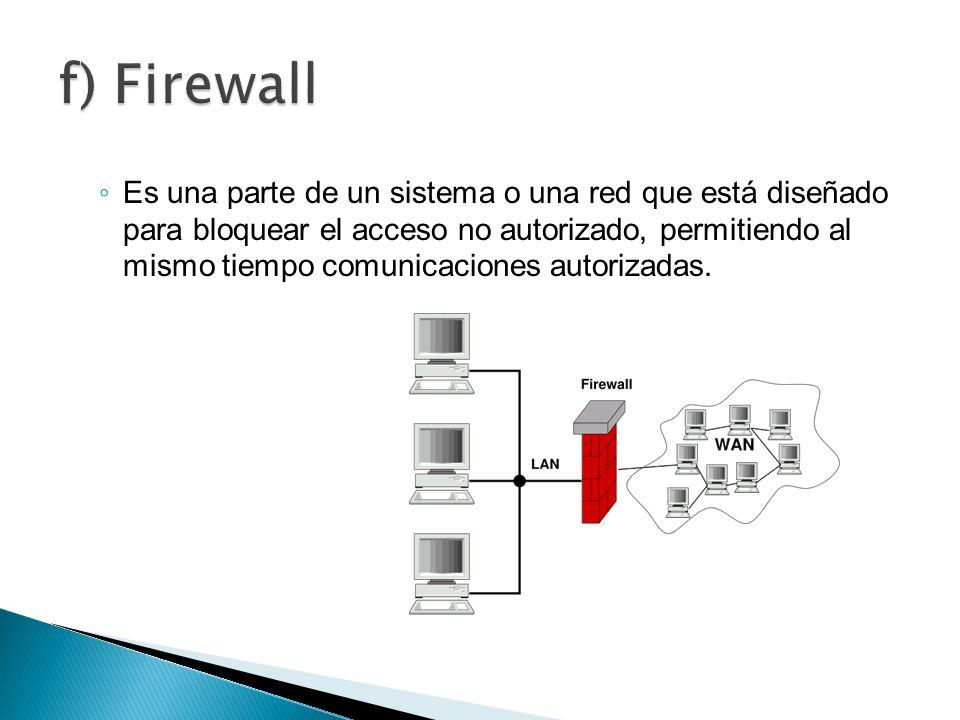 f) Firewall