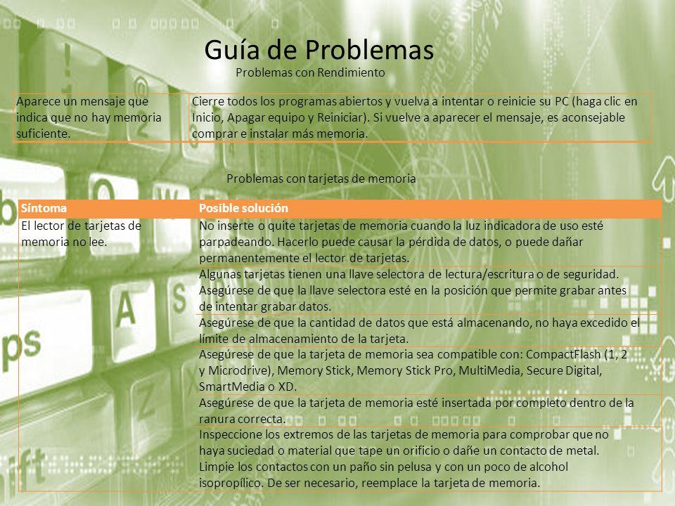 Guía de Problemas Problemas con Rendimiento