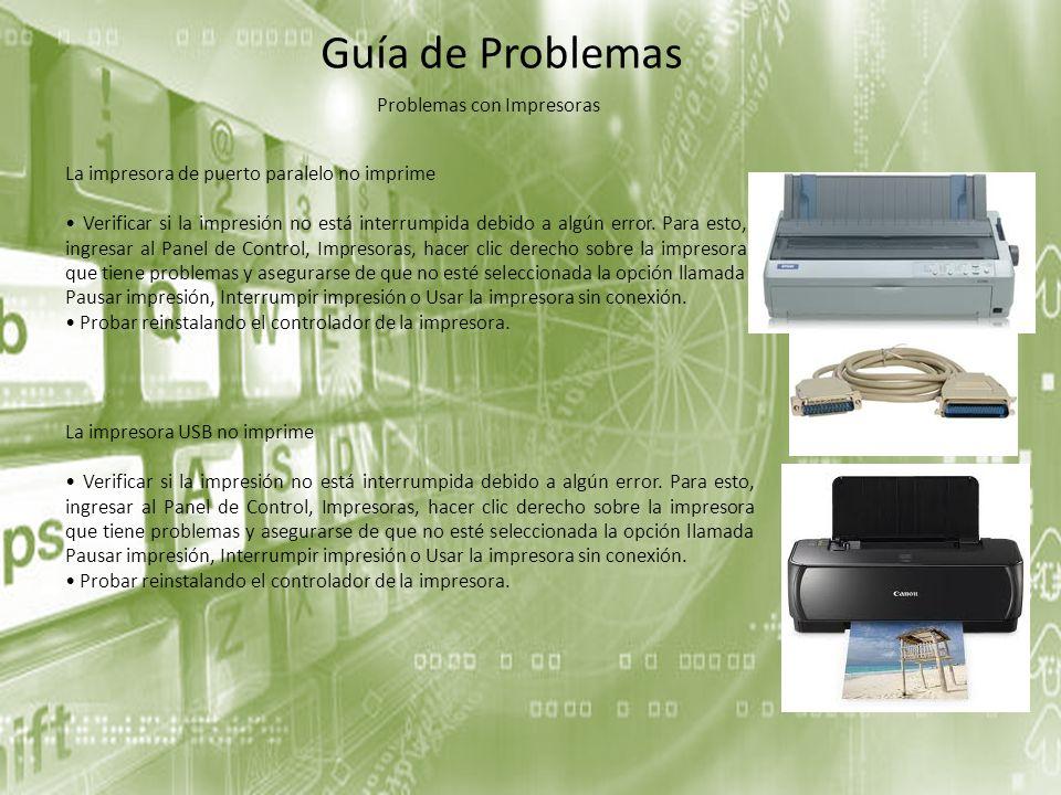 Problemas con Impresoras