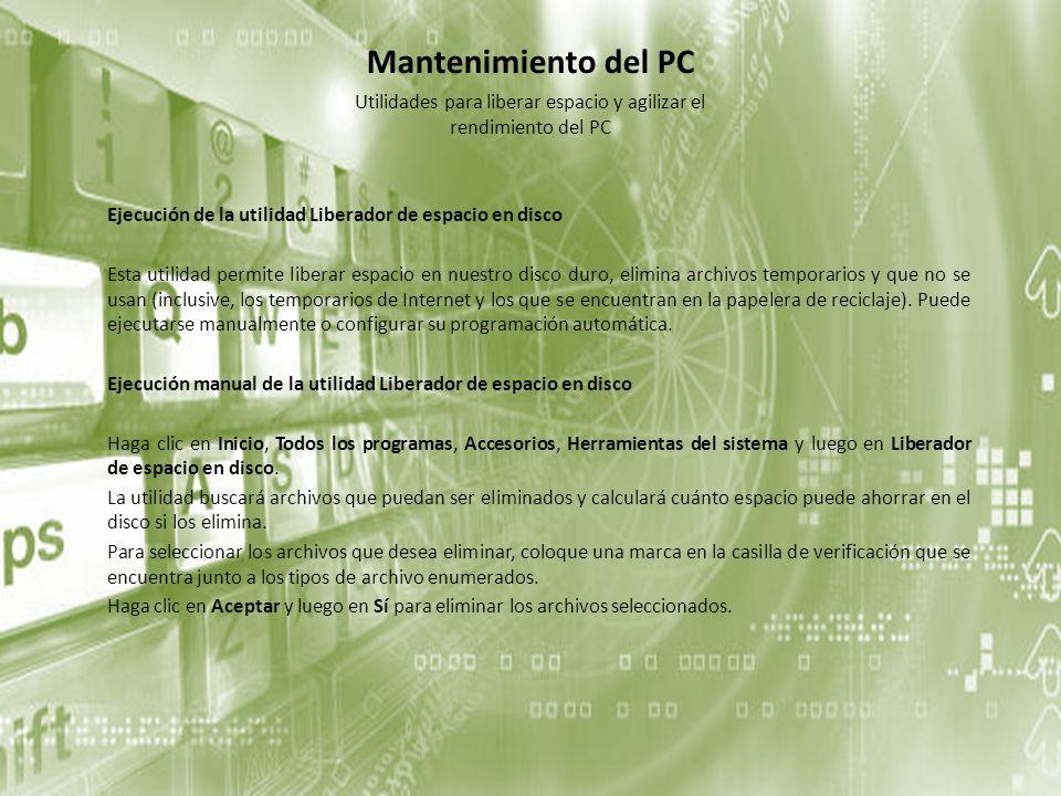 Utilidades para liberar espacio y agilizar el rendimiento del PC