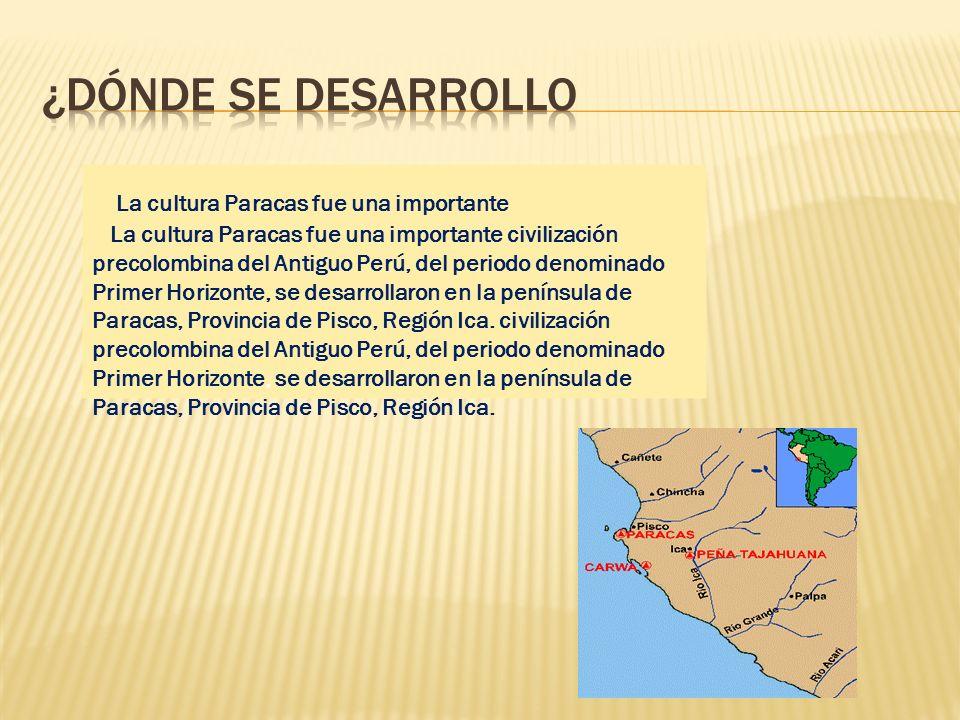 ¿DÓNDE SE DESARROLLO La cultura Paracas fue una importante