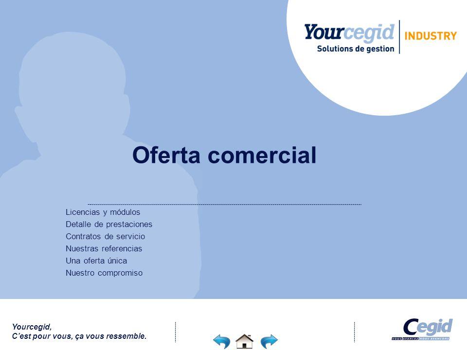 Oferta comercial Licencias y módulos Detalle de prestaciones