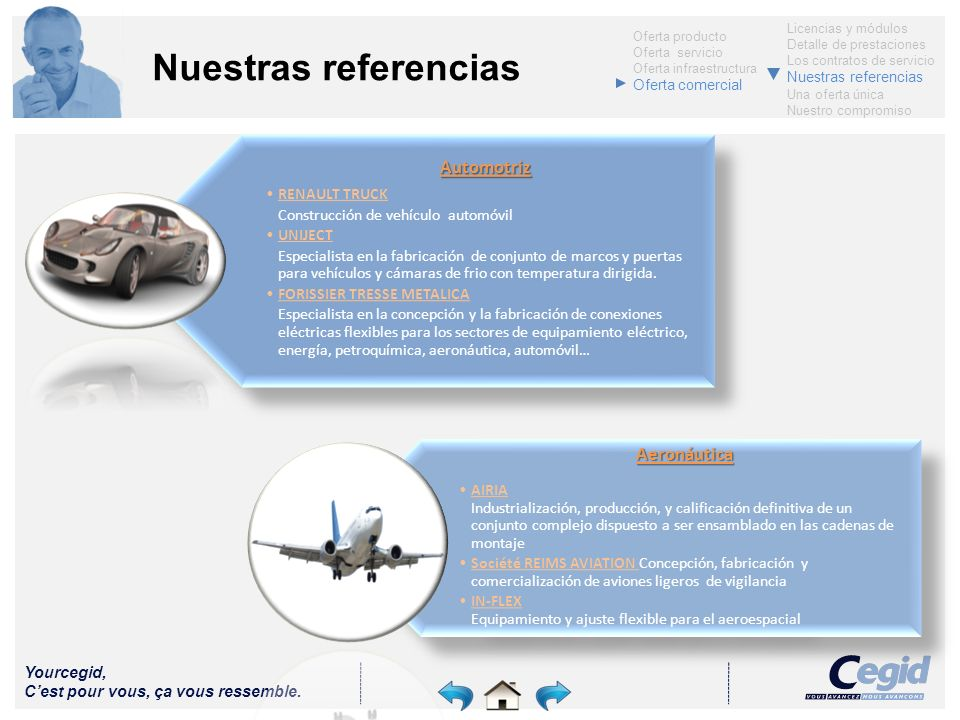 Nuestras referencias Aeronáutica Automotriz