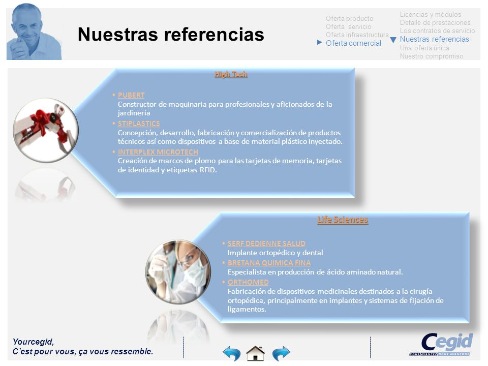 Nuestras referencias Life Sciences High Tech