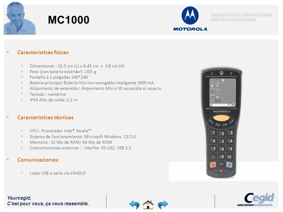 MC1000 Características físicas Características técnicas