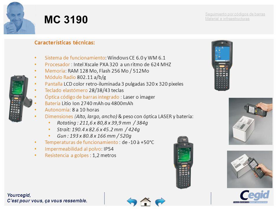 MC 3190 Características técnicas: