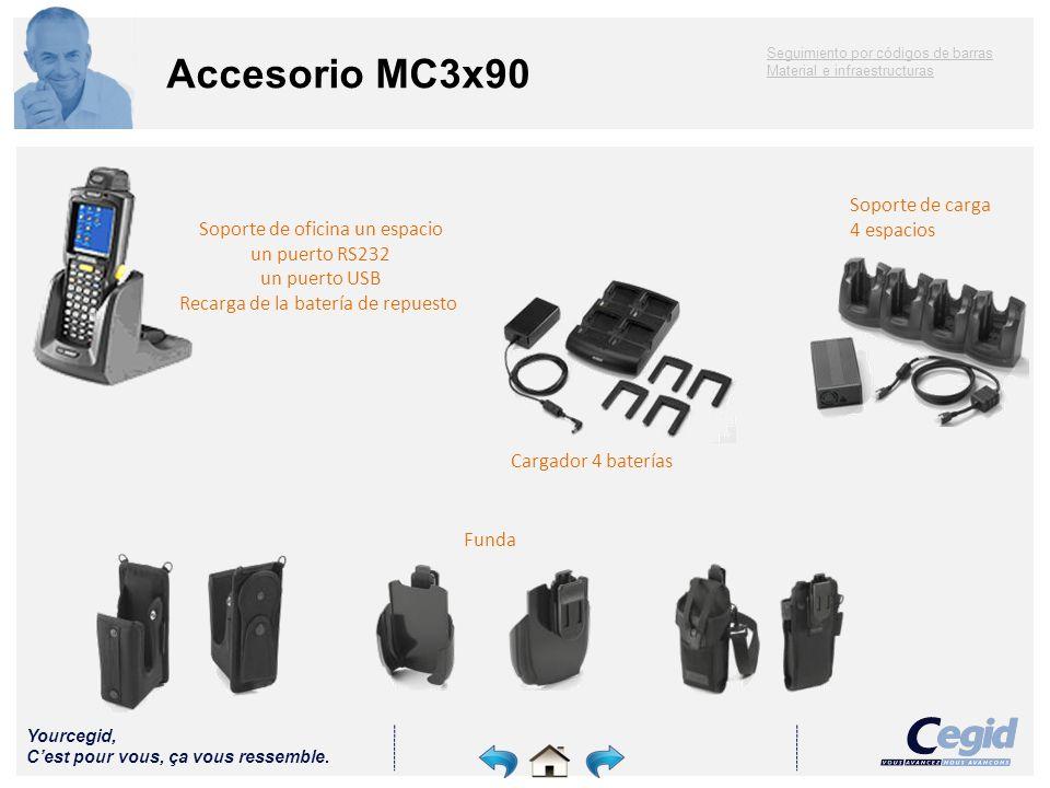 Accesorio MC3x90 Soporte de carga 4 espacios