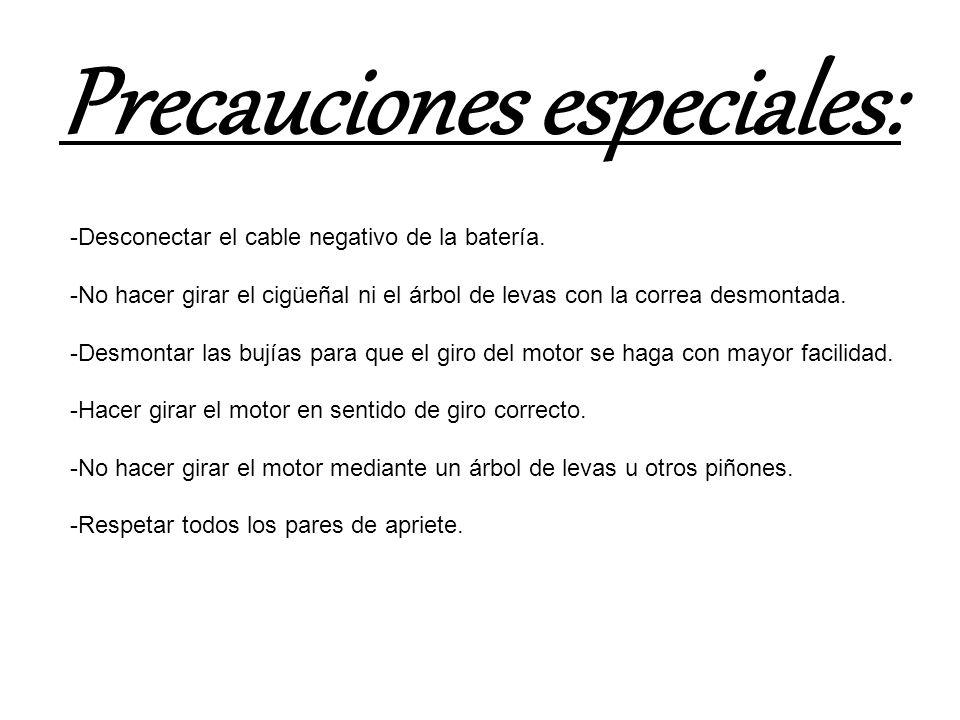 Precauciones especiales: