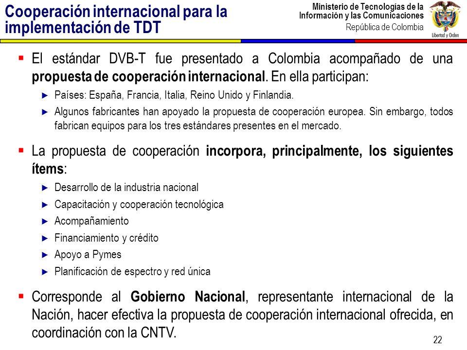 Cooperación internacional para la implementación de TDT