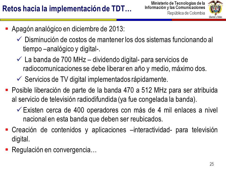 Retos hacia la implementación de TDT…