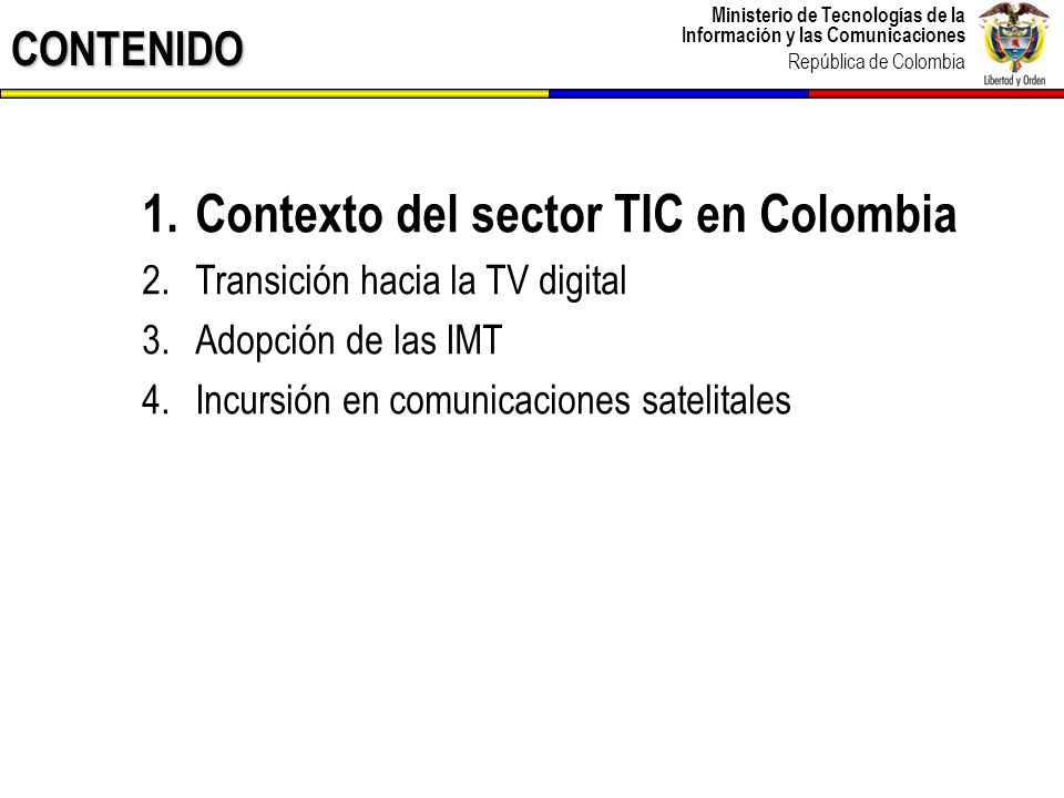 Contexto del sector TIC en Colombia