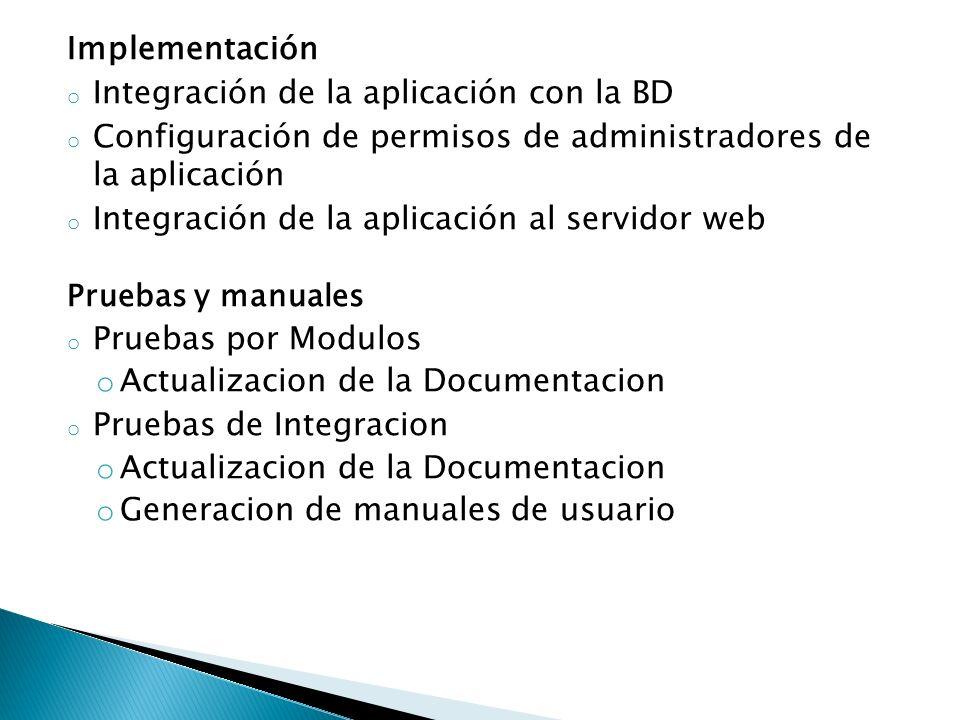 Integración de la aplicación con la BD