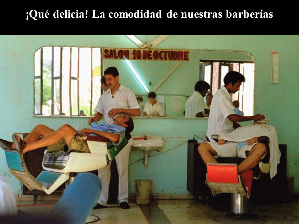 ¡Qué delicia! La comodidad de nuestras barberías