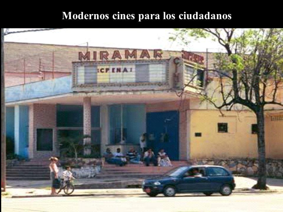 Modernos cines para los ciudadanos