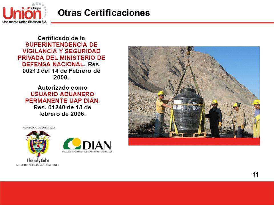 Otras Certificaciones