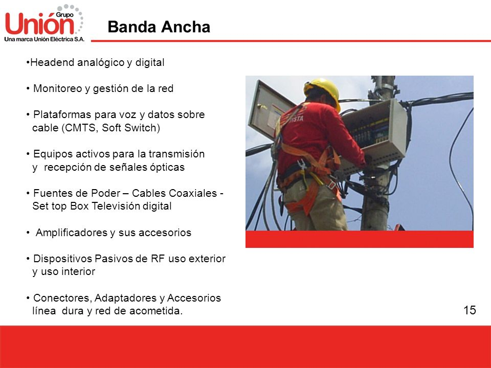 Banda Ancha Headend analógico y digital Monitoreo y gestión de la red