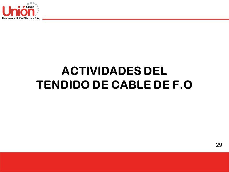 ACTIVIDADES DEL TENDIDO DE CABLE DE F.O