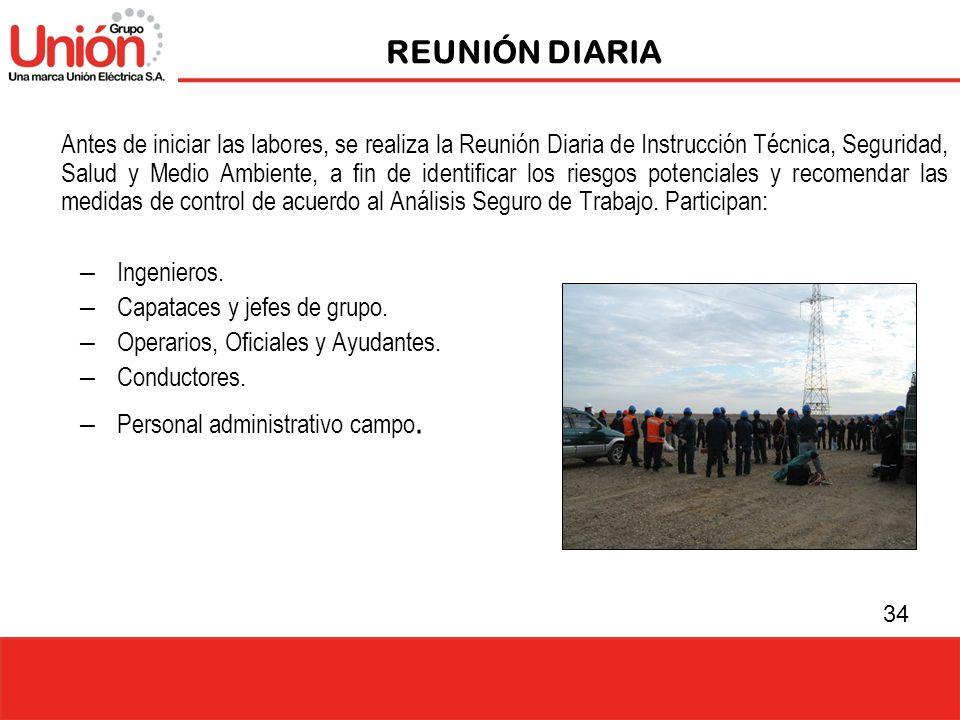 REUNIÓN DIARIA