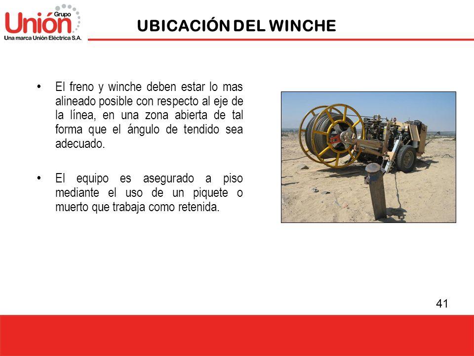 UBICACIÓN DEL WINCHE