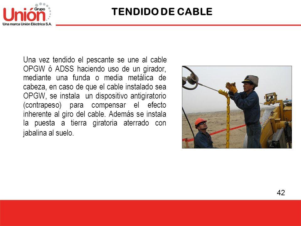 TENDIDO DE CABLE