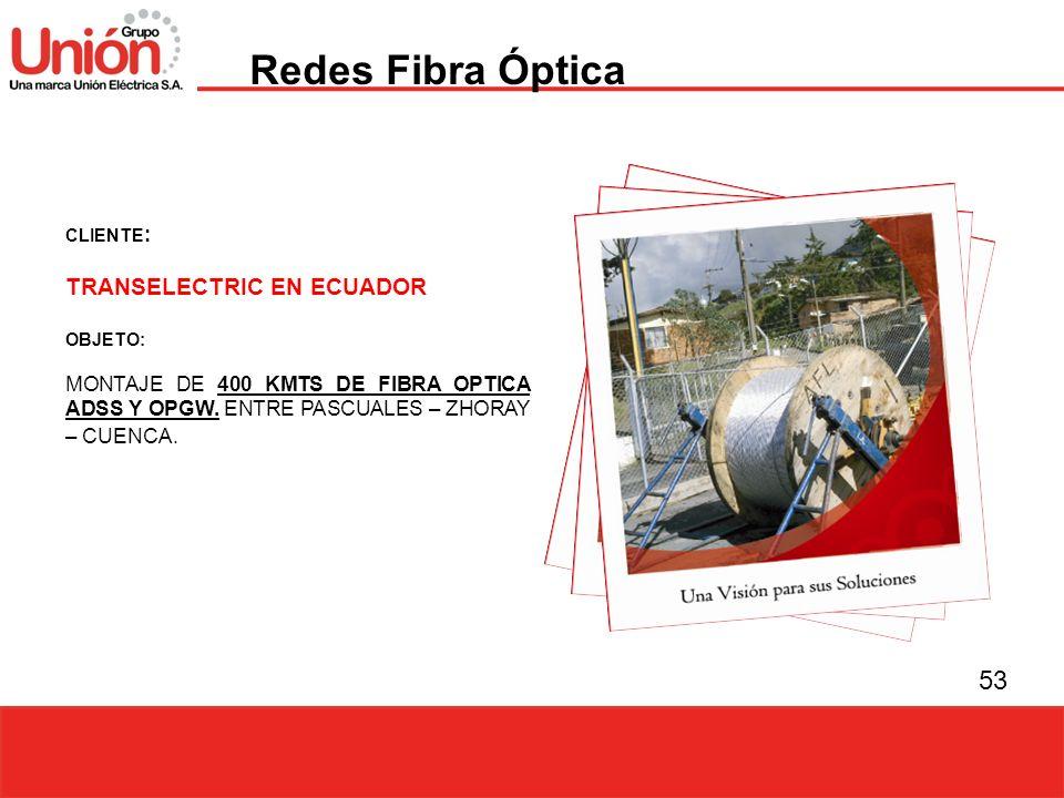 Redes Fibra Óptica TRANSELECTRIC EN ECUADOR