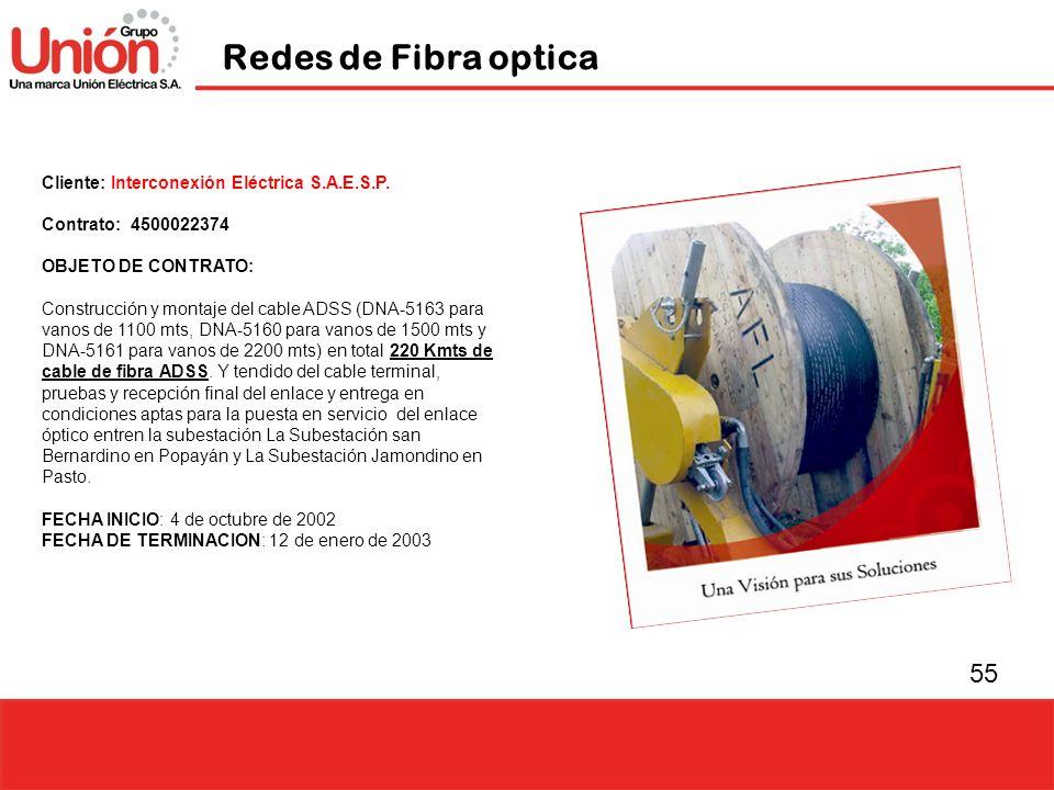 Redes de Fibra optica Cliente: Interconexión Eléctrica S.A.E.S.P.