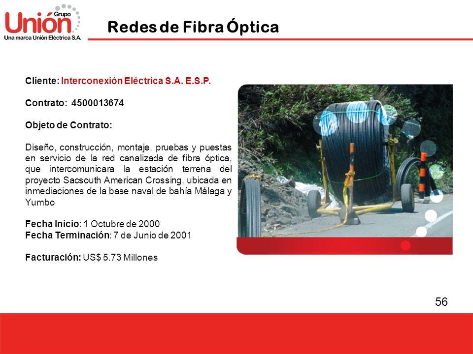 Redes de Fibra Óptica Cliente: Interconexión Eléctrica S.A. E.S.P.