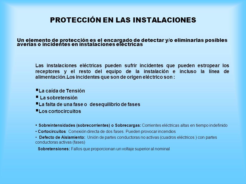 PROTECCIÓN EN LAS INSTALACIONES