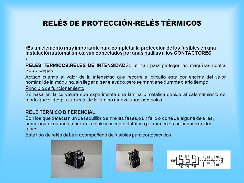 RELÉS DE PROTECCIÓN-RELÉS TÉRMICOS