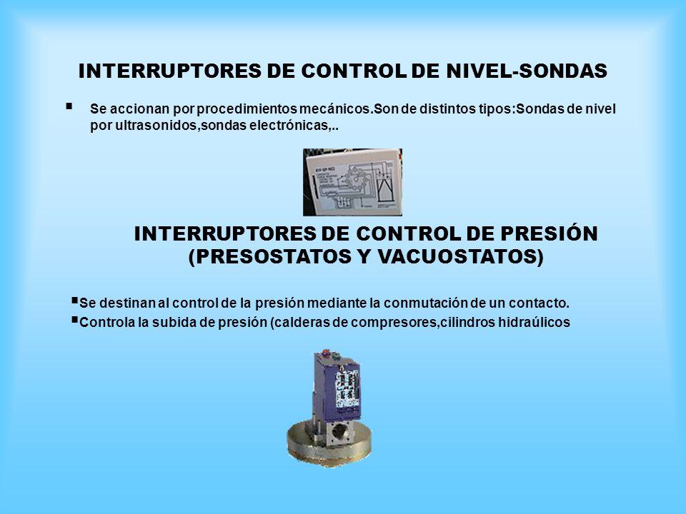 INTERRUPTORES DE CONTROL DE NIVEL-SONDAS