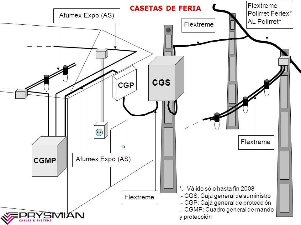 CGS .. CGP CGMP Flextreme CASETAS DE FERIA Polirret Feriex*