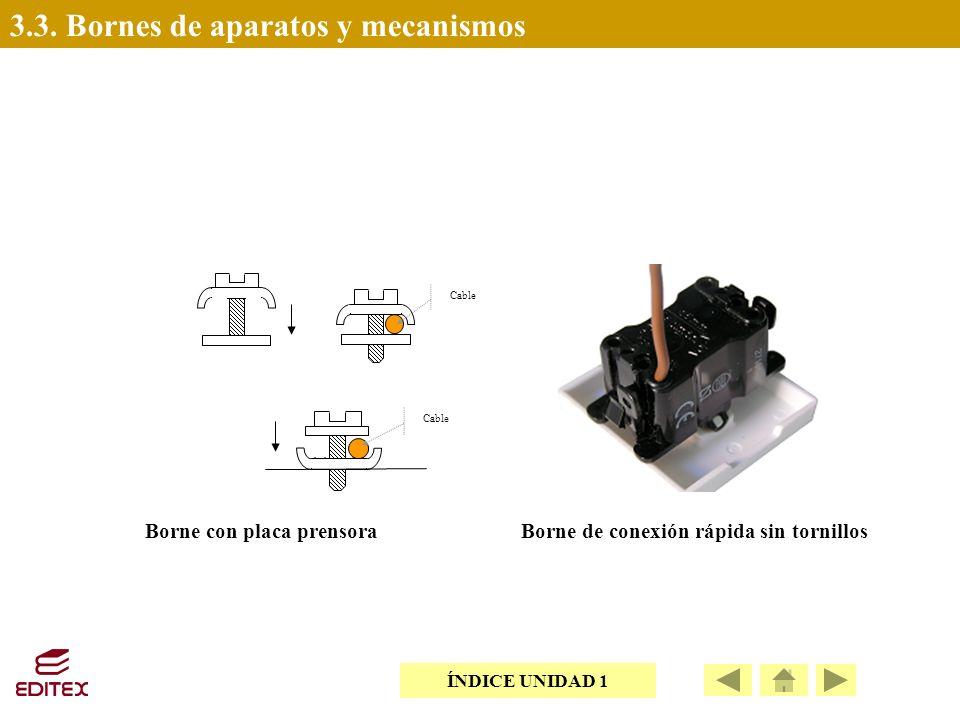 3.3. Bornes de aparatos y mecanismos