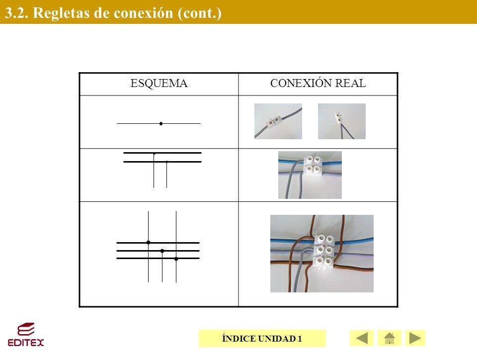 3.2. Regletas de conexión (cont.)