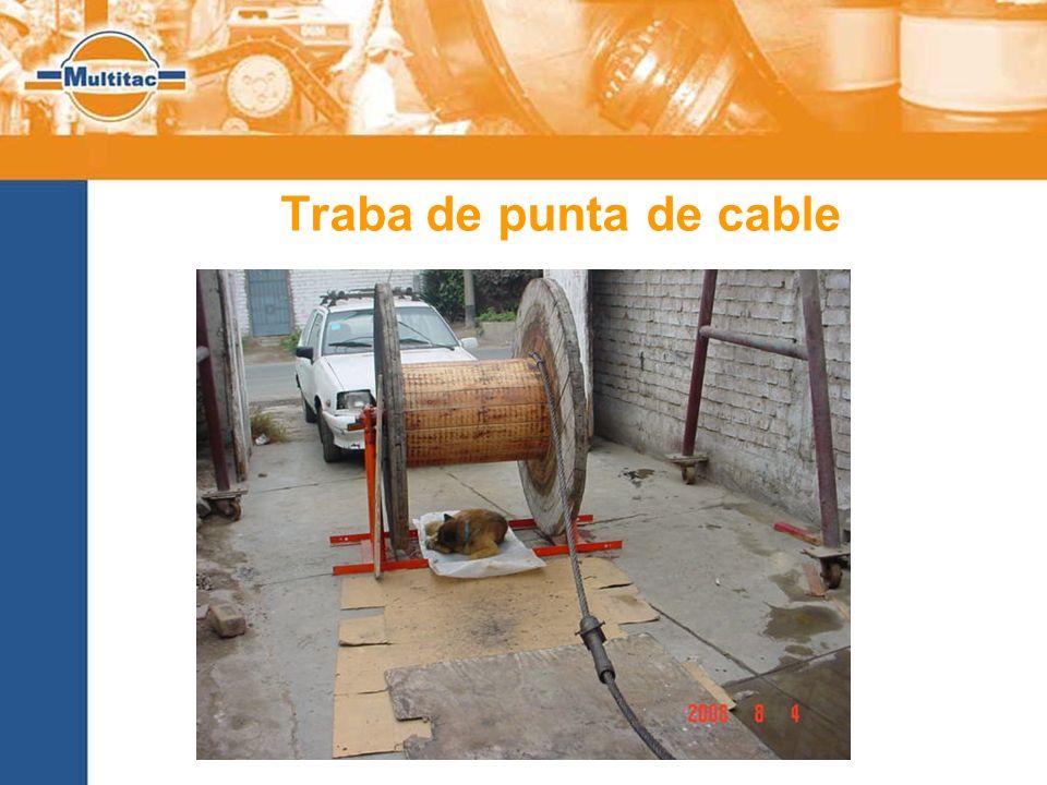 Traba de punta de cable