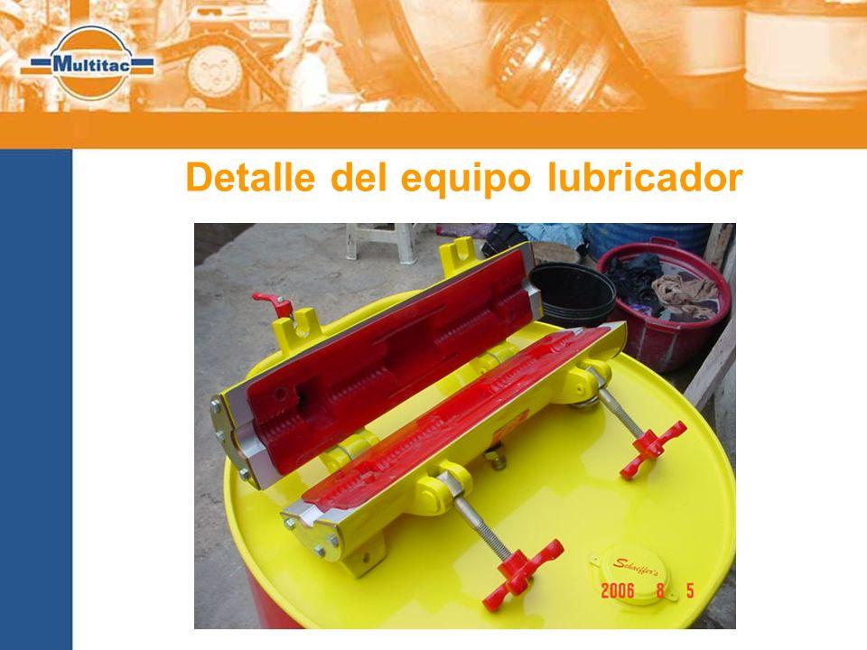 Detalle del equipo lubricador