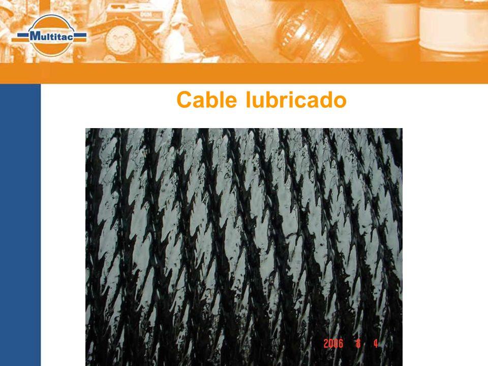 Cable lubricado