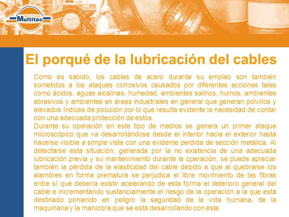 El porqué de la lubricación del cables