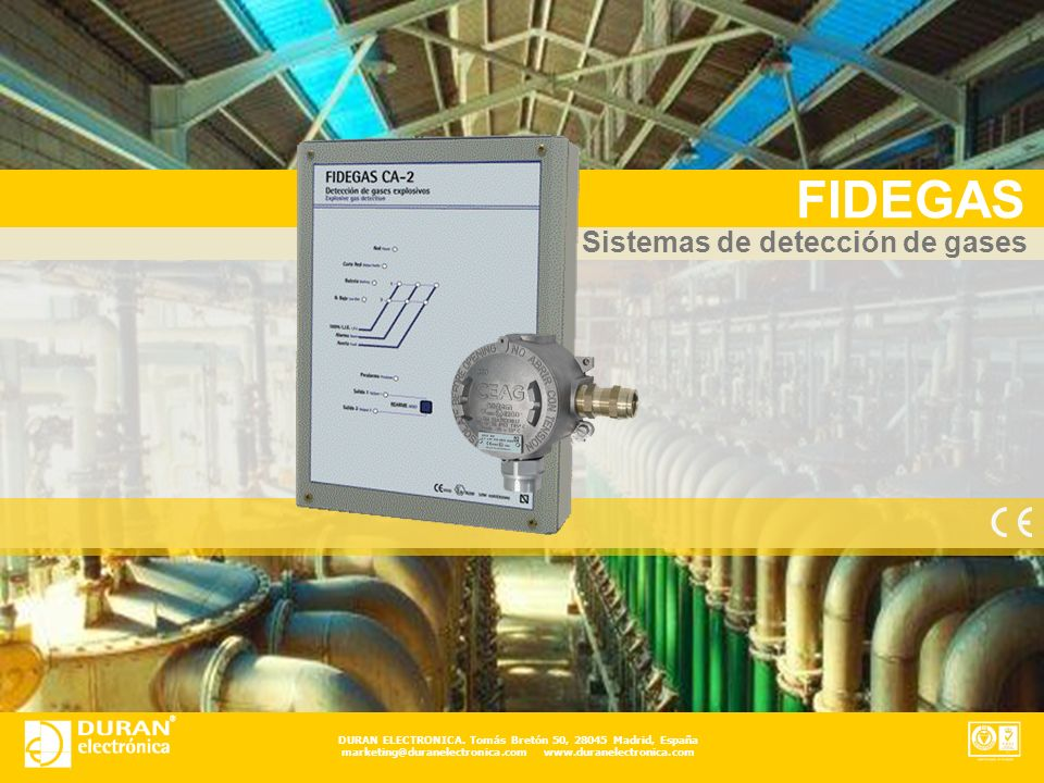 FIDEGAS Sistemas de detección de gases