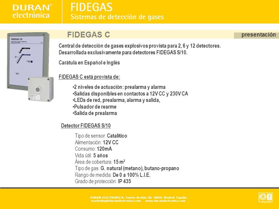 FIDEGAS C presentación