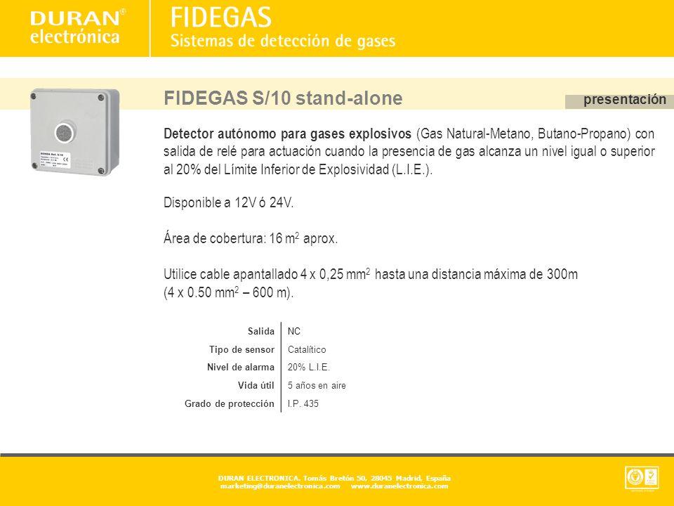 FIDEGAS S/10 stand-alone