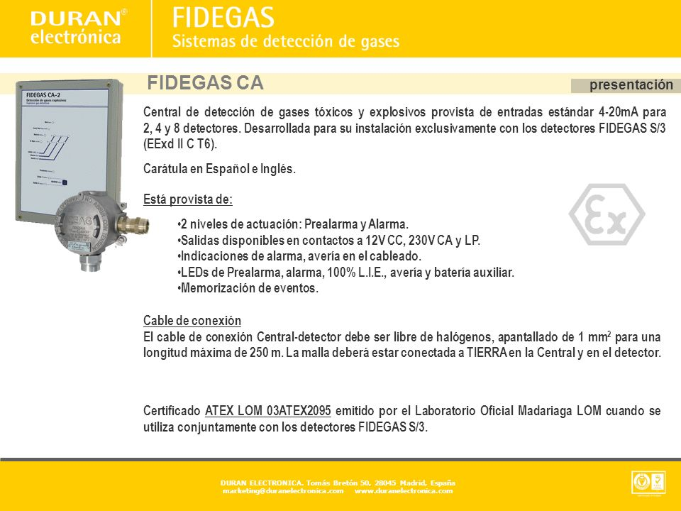 FIDEGAS CA presentación