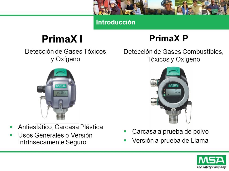 PrimaX I PrimaX P Introducción Detección de Gases Tóxicos y Oxígeno