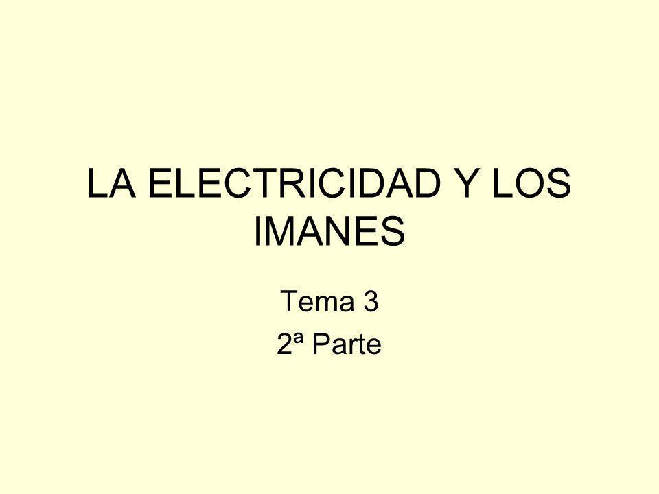 LA ELECTRICIDAD Y LOS IMANES