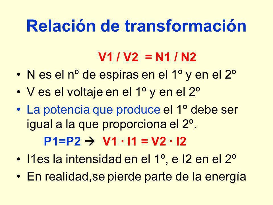 Relación de transformación