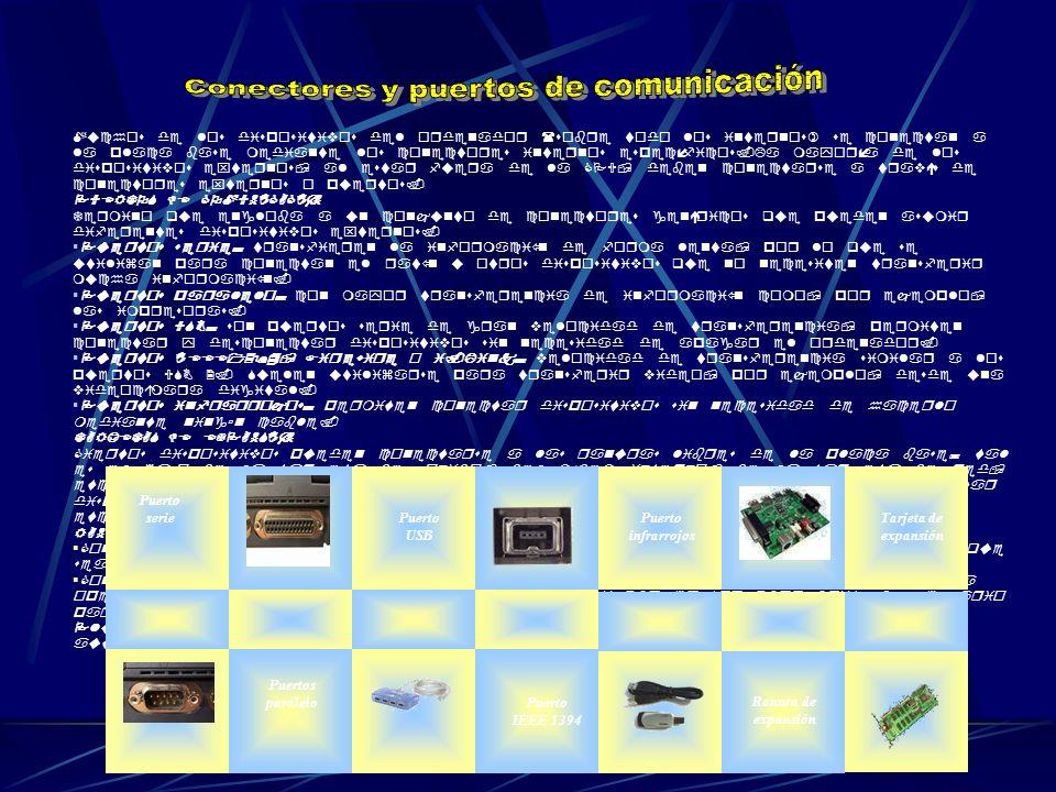 Conectores y puertos de comunicación