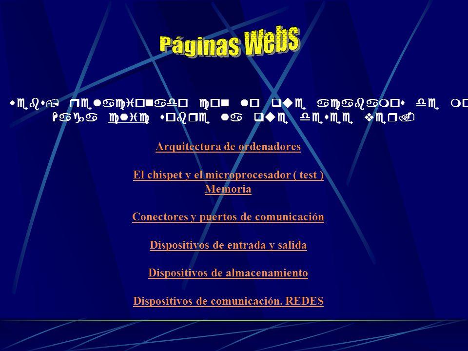 Páginas Webs Páginas webs, relacionado con lo que acabamos de mostrar.