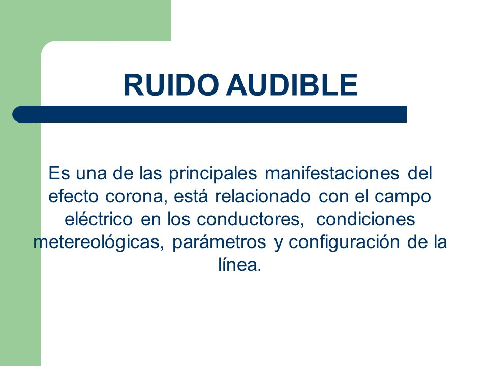 RUIDO AUDIBLE