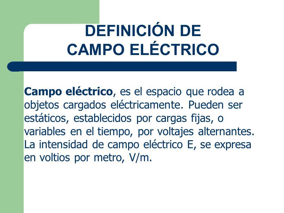 DEFINICIÓN DE CAMPO ELÉCTRICO