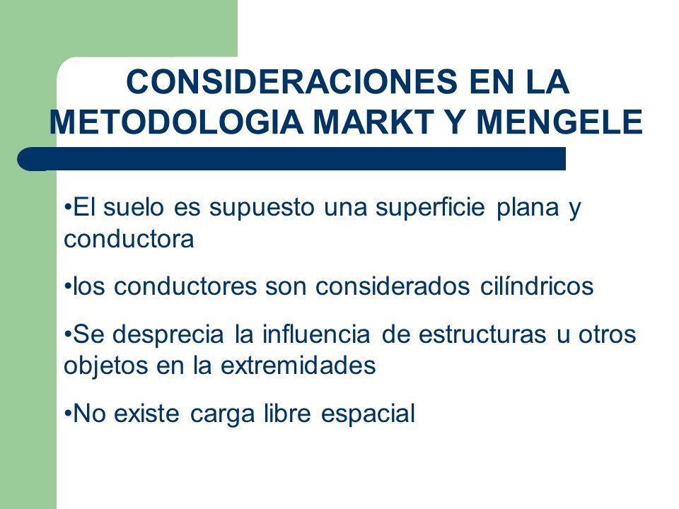 CONSIDERACIONES EN LA METODOLOGIA MARKT Y MENGELE