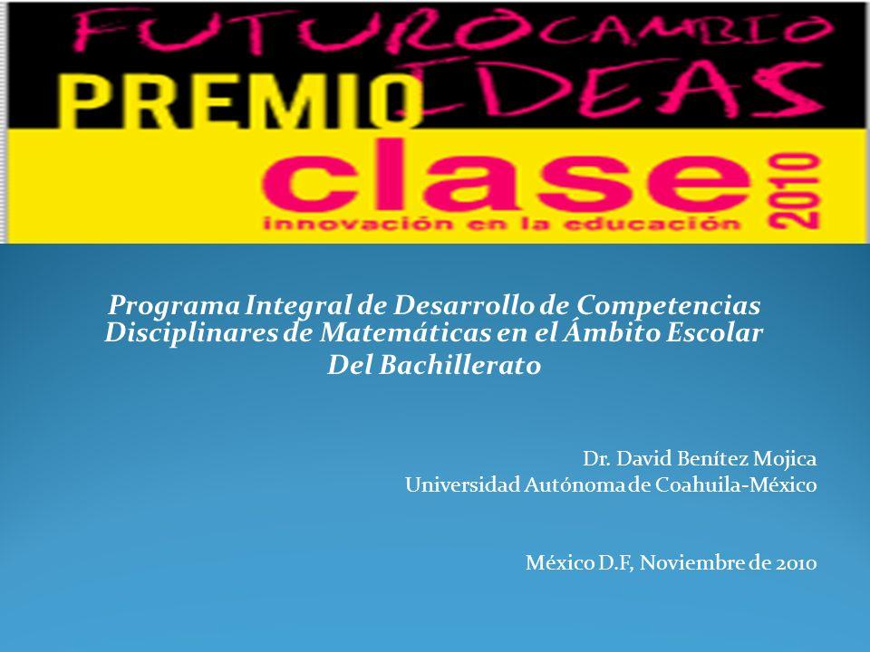 Programa Integral de Desarrollo de Competencias Disciplinares de Matemáticas en el Ámbito Escolar